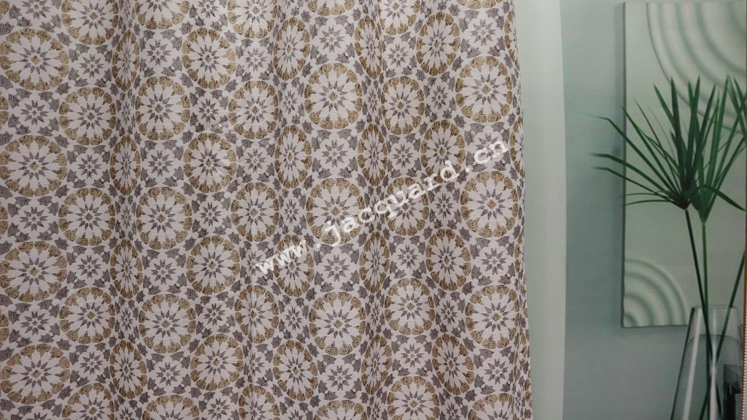 Jacquard Gromment Curtain /Eyelet  Curtain   for Bed room Living Room(2 Panels)